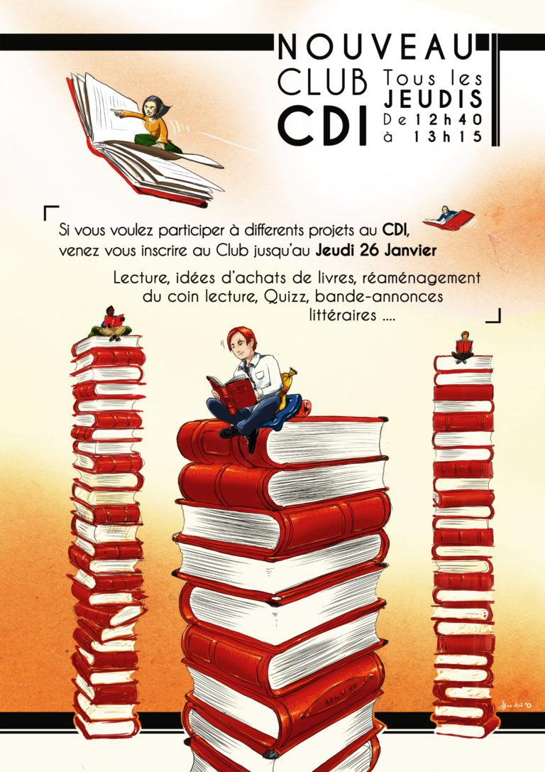 Affiche Club CDI | Collège Bellestre