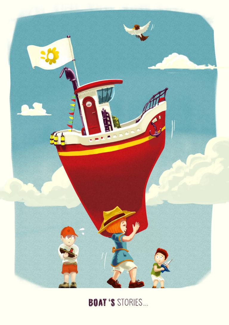 Boat's stories... | Peinture digitale