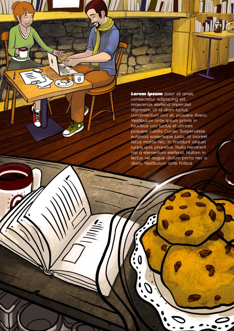 Illustration thématique N°1 | Café librairie