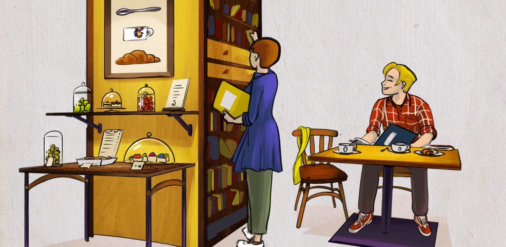 Illustration thématique N°2 | Café librairie